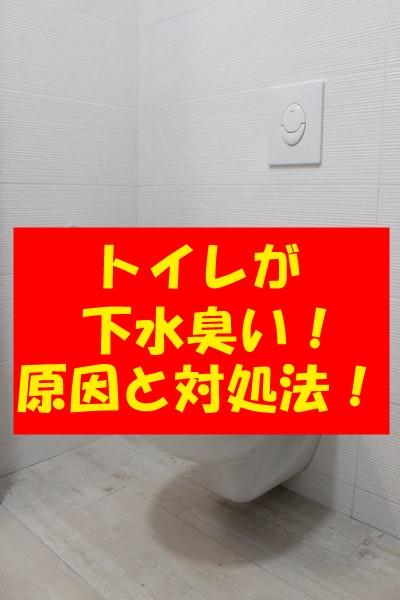 トイレが下水臭い!新築なのに?急に臭い時の原因と対処法も解説!